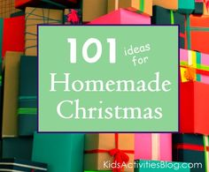 101 DIY Gifts~ great ideas for Kids too!
