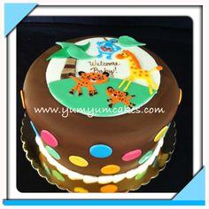 Fisher price safari baby shower cake
