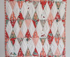 ORGANIC Baby Girl Quilt Woodland Forest Animals by TheDancingQuilt