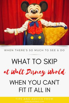 What to Skip at Walt
