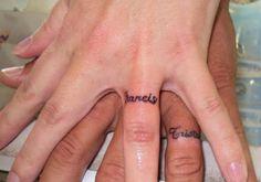 couples name ring tattoos, wedding ring tattoos, ring finger, finger tattoos, a tattoo, wedding rings, coupl tattoo, couple tattoos, couple ring tattoos