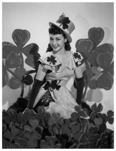 Vintage St. Patrick's Day Pin Up Girl