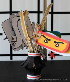 Ninjago Themed Photo Props - Free Silhouette Files - Cut with the Silhouette Cameo