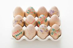 How to Make Wooden Easter Eggs… For Free! via Brit + Co.
