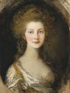 Augusta Sophia Princess of the United Kingdom and of Hanover, age 13; by Thomas Gainsborough, c. 1782. She was the daughter of King George III of Great Britain.