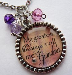 My greatest blessing call me Grandma necklace wedding by TrendyTz, $20.99