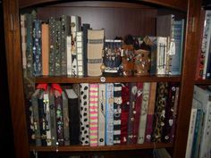 I want a shelf of journals like this