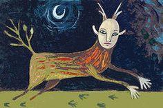 Sarah Stone Art - Faun by Sarah Stone