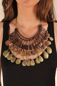 32 Spoonful Statement Necklace - Bronze
