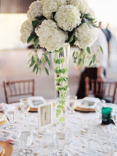 Hydrangea wedding florals for a softer touch