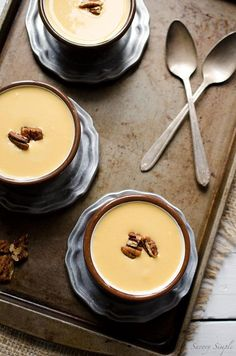 This Cream of Winter Squash Soup with Spicy Candied Pecans