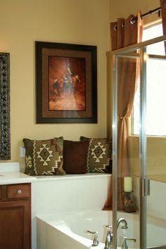 western bathroom ideas western inspired master bath with cowboy