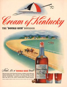 1940 Cream of Kentucky Bourbon print ad with by Vividiom on Etsy, $9.00