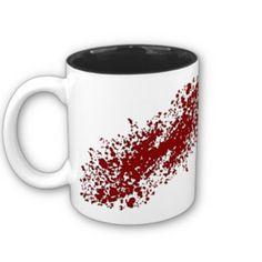 blood splatter coffee mugs - photo #20