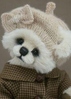 teddi bear, beret
