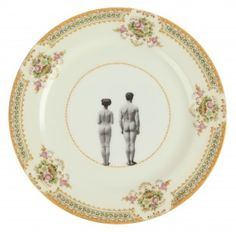 Upcycled Vintage 'Models' Bone China Dinner Plate