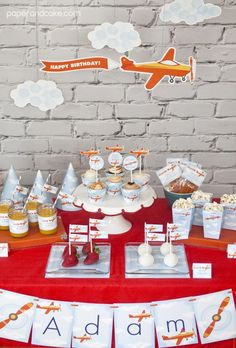 Airplane Birthday Printable Party | Paper & Cake