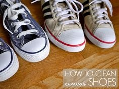 Not laundry, but where would I put this !?!?  How to clean canvas shoes - C.R.A.F.T.