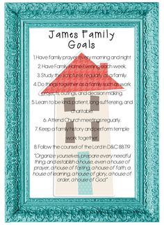 How to make Family Goals with free Printable