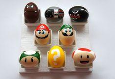 geek, craft, easteregg, nintendo, super mario brothers, egg decorating, supermario, easter eggs, super mario bros