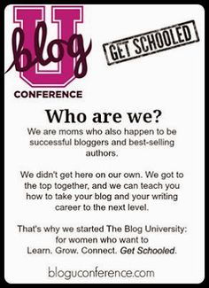 BLOG U: A fun, new and different kind of blogging conference coming in 2014! | Kelley's Break Room    *I hope you bloggers or thinking-about-becoming-bloggers check it out!*