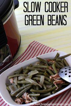 Slow Cooker Green Beans   Recipe on PocketChangeGourmet.com