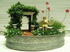 arbor fairi, garden ideas, fairi garden, garden trellis, miniature gardens, mini gnome garden, mini gardens, garden plants, miniature fairy gardens