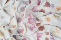 Natural dyeing with foraged flora for a modern aesthetic by Alchemy.