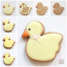Step by step - how to decorate a duck cookies