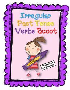 $2.50- Irregular Past Tense Verbs Scoot