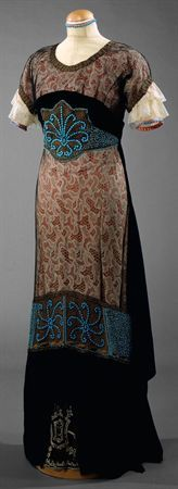 "Dress, 1910s labeled ""Lambert Schneider Soeurs/10, rue du Mont Thabor, Paris."""