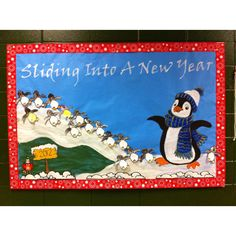 New Year bulletin board.
