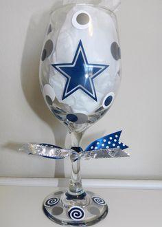 Dallas Cowboys wine glass