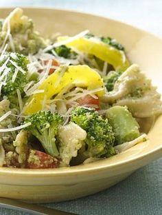 Bowties with Broccoli Pesto