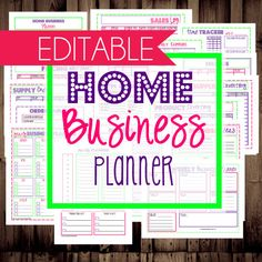 50% off-INSTANT DOWNLOAD and EDITABLE-Home Business Planner-Printable Work at Home, Home Business, Etsy Business Planner-30 Documents via Etsy