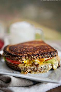 Chicken, Avocado & Tomato Grilled Cheese | FamilyFreshCooking.com