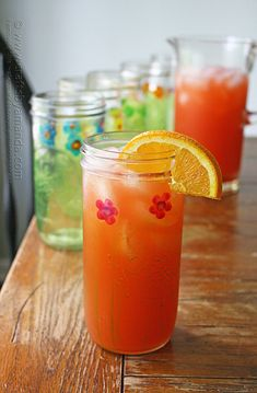 These pretty painted Mason Jar Drinking Glasses by Amanda Formaro of Crafts by Amanda are great for a summer barbecue!