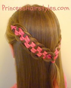 Five Strand Braid with Ribbon from Princess Hairstyles