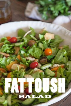 Fattoush Salad - One of my all time favorite salads with the best dressing ever!