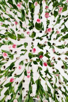 fleur, tulip installation, flower art, floral