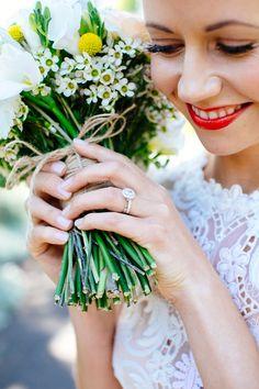 great ring + bouquet shot, photo by Love Katie + Sarah http://ruffledblog.com/bellarine-peninsula-wedding #rings #wedding