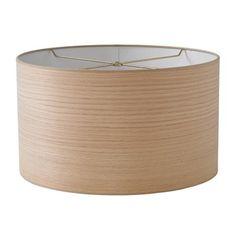 "16"" Wood Veneer Shallow Drum Lamp Shade - $95 + $35 + $49"