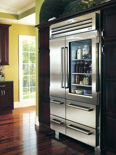 glass front refrigerator