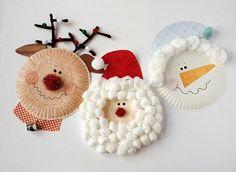 Paper Plate Christmas Characters: Santa, Rudolph, Snowman - Kix Cereal