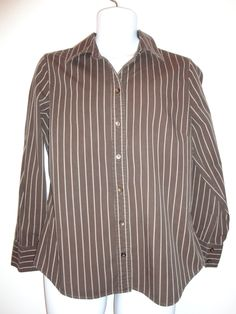 $5.99 Size large brown striped hipster shirt