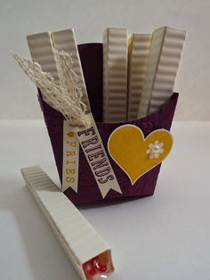 Unique Ink: Stampin' UP! Fry Box (smarties candies in the french fries)