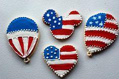 4th of July/ Memorial day patriotic cookies
