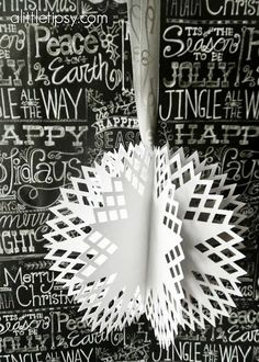 How to Make a Snowflake Ornament by A Little Tipsy