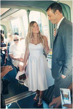 Tram wedding © Kathryn Edwards Photography via French Wedding Style