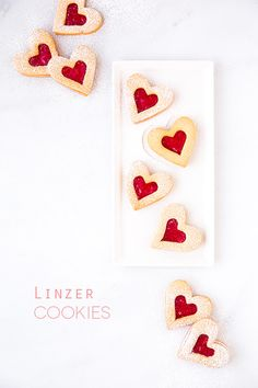 filled heart cookies
